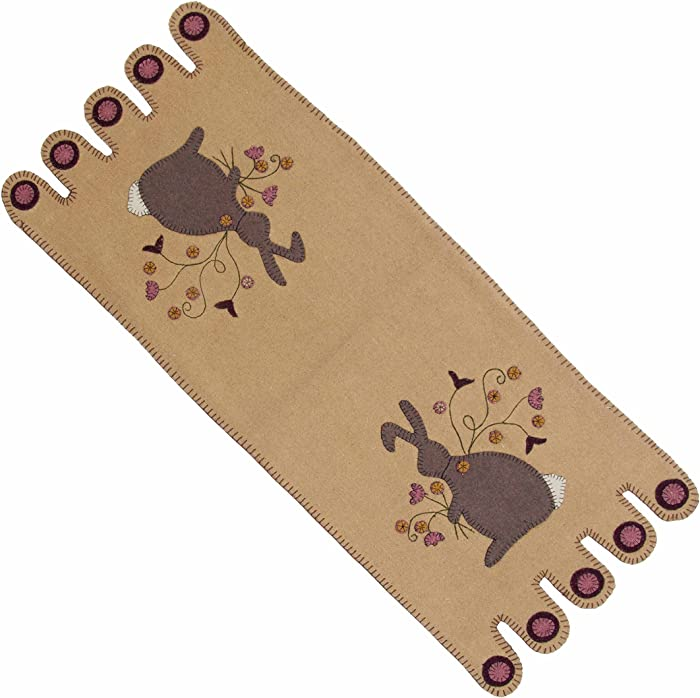 Home Collection by Raghu Nutmeg Bunny Table Runner, 18