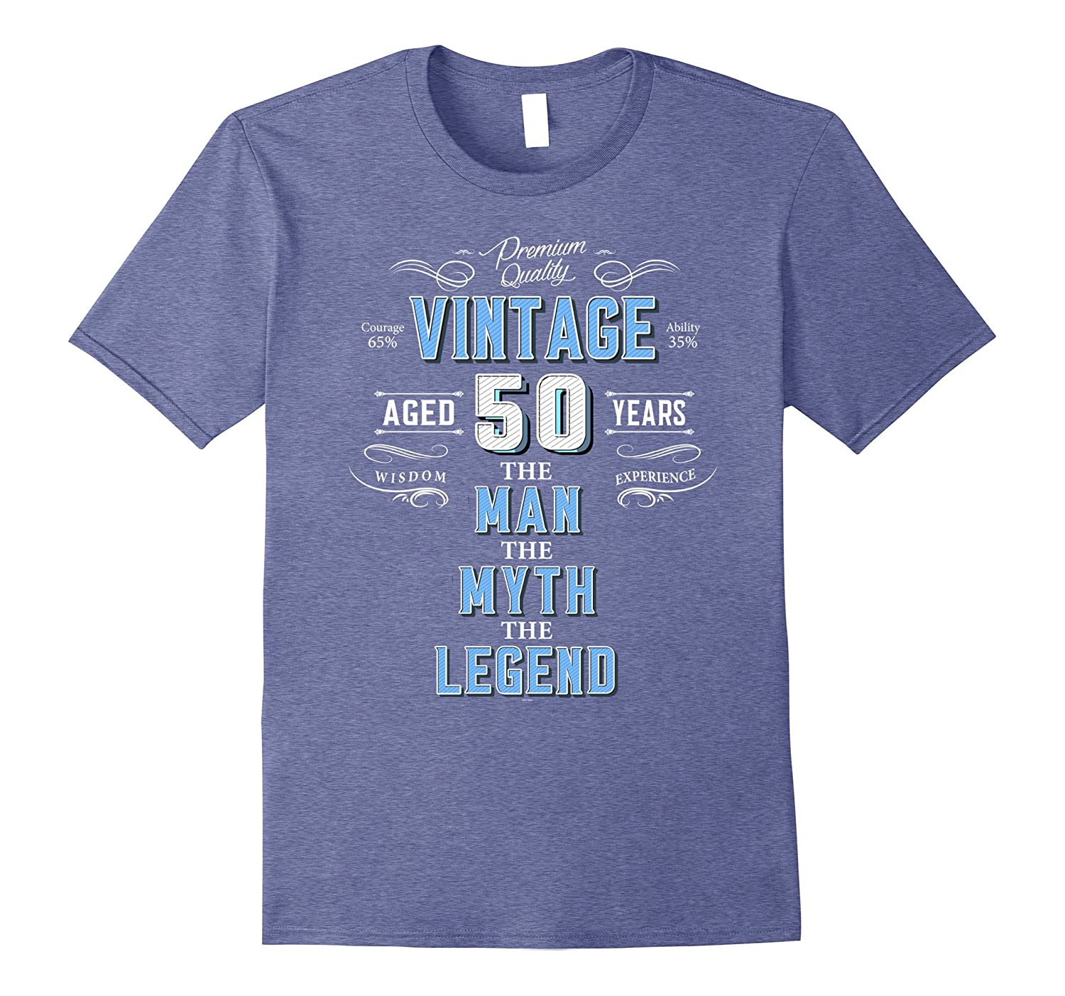 Mens Vintage 50th Birthday Tshirt For Men Aged 50 Years Old Tee TH