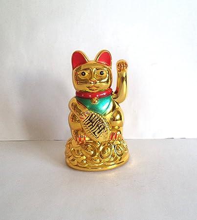 Tej Gifts - Feng Shui Waving Cat Maneki Neko Lucky Cat Small