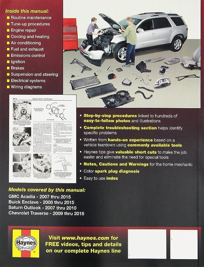 amazon com haynes repair manual covering gmc acadia 2007 2013 rh amazon com Haynes Repair Manual 1991 Honda Civic Haynes Repair Manual 1991 Honda Civic