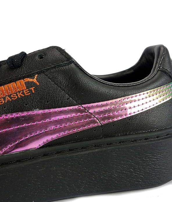 Puma Basket Plateau Regenbogen Qualität Schulschuhe Black
