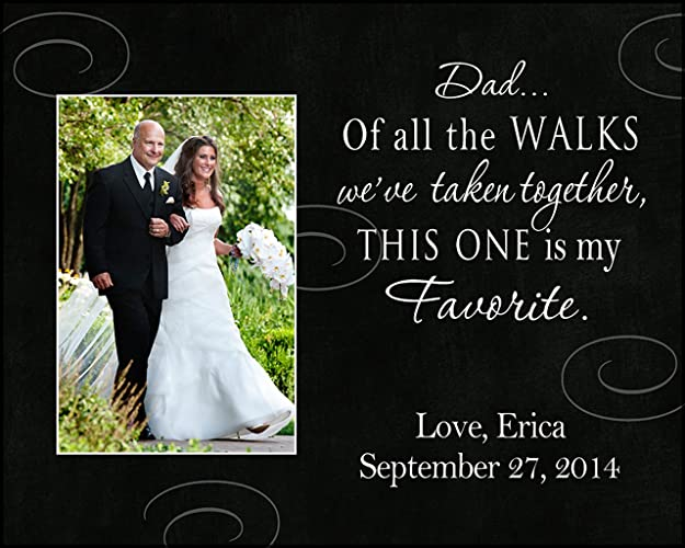 Amazoncom 8x10 Dad Of All The Walks Personalized Wedding Picture