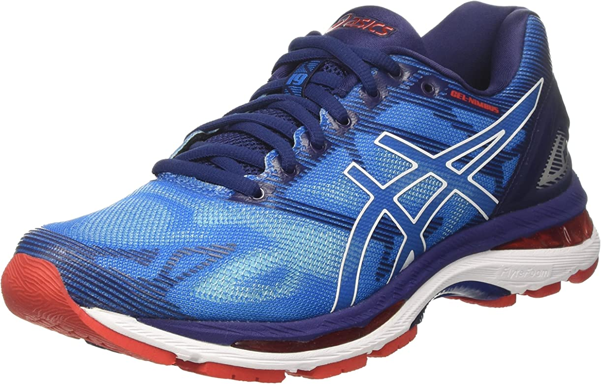 Asics Gel-Nimbus 19, Zapatillas de Running Hombre, Azul (Diva Blue/White/Indigo Blue), 39 EU: Amazon.es: Zapatos y complementos