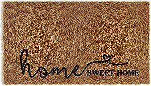 Barnyard Designs 'Home Sweet Home' Doormat, Indoor/Outdoor Non-Slip Rug, Front Door Welcome Mat for Outside Porch Entrance, Home Entryway Farmhouse Decor, 30