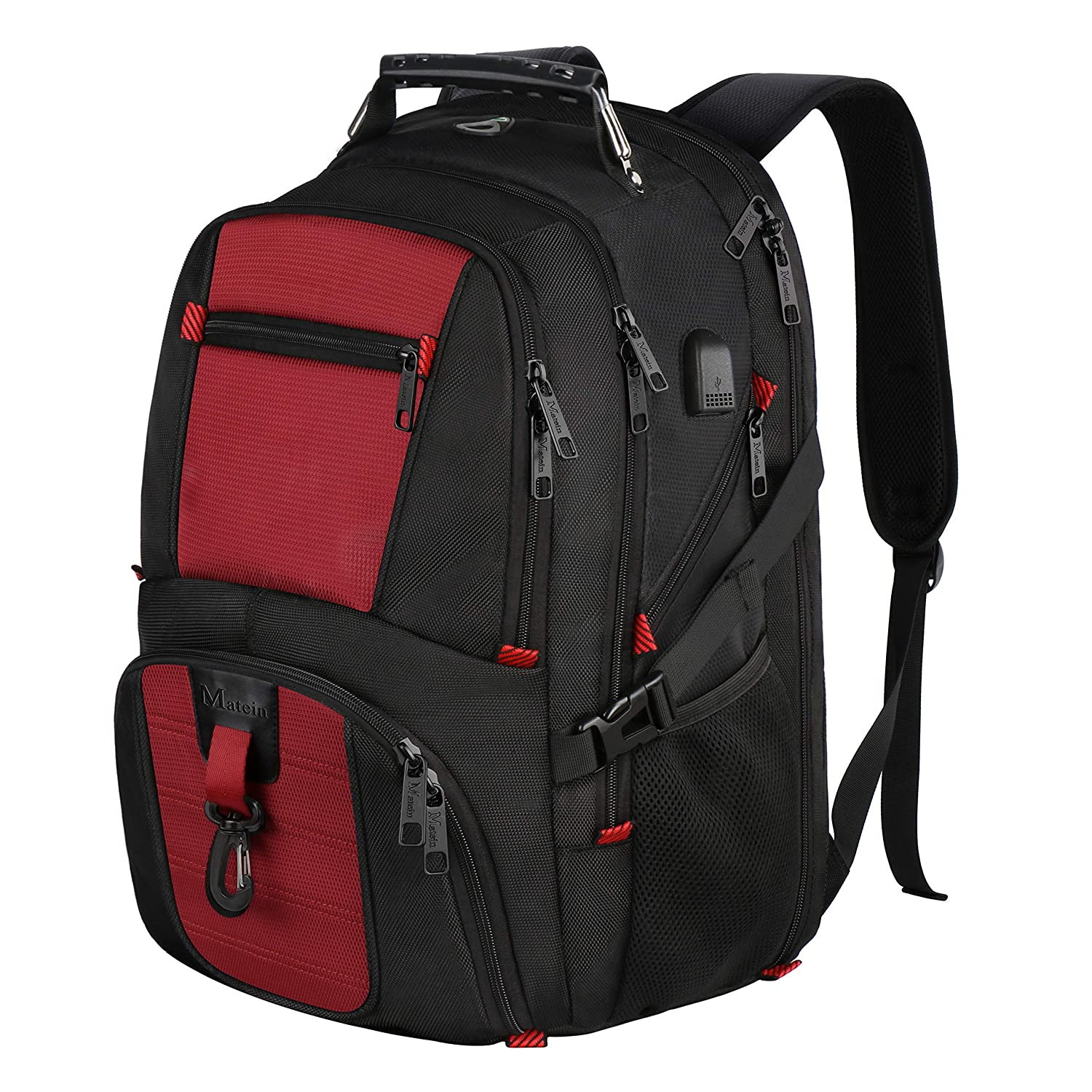 8952436d949a Travel Backpack with USB, Water Resistant Business Laptop Backpack with  Anti Theft Zipper for Women & Men, Computer School Bag College Backpack for  ...