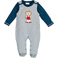 SALT AND PEPPER Baby-Jungen Strampler BG Playsuit Stripe Löwe Ocs