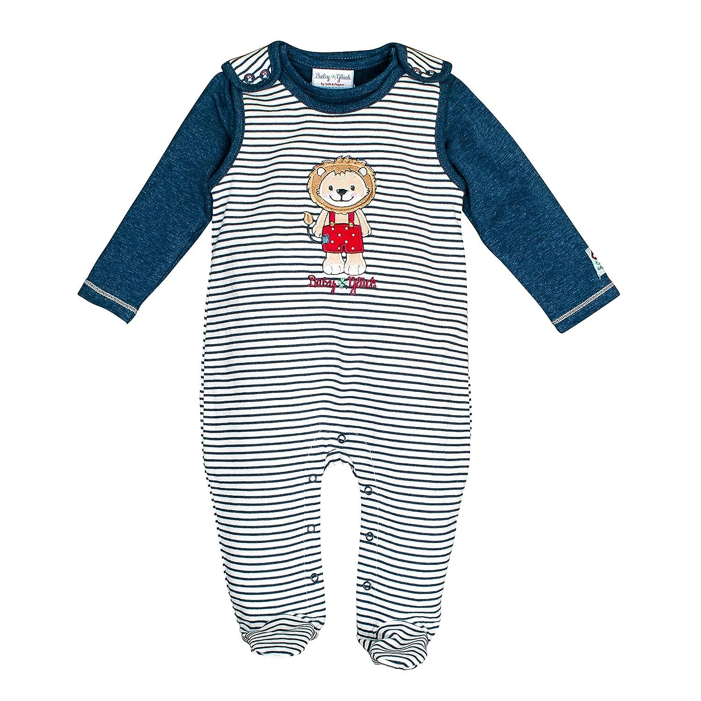 Salt & Pepper Baby Boys' Bg Playsuit Stripe Löwe Ocs Footies SALT AND PEPPER 85824126