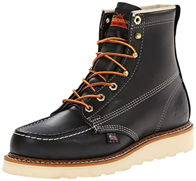 Thorogood 8146201 Mens American Heritage Wedge 6inch MocToe Boot Black