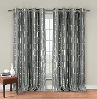 Amazon.com: Sophie Grommet With Bold Silver Metallic Pattern 84 ...
