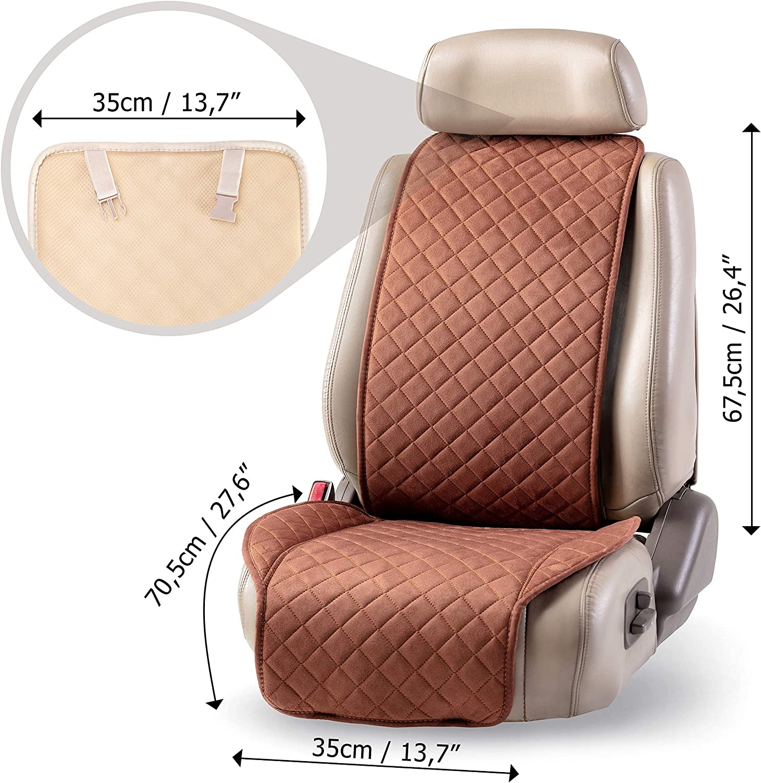 Unique Car Seat Cover Black Bonus = Universal Protector for You 1-pc Set