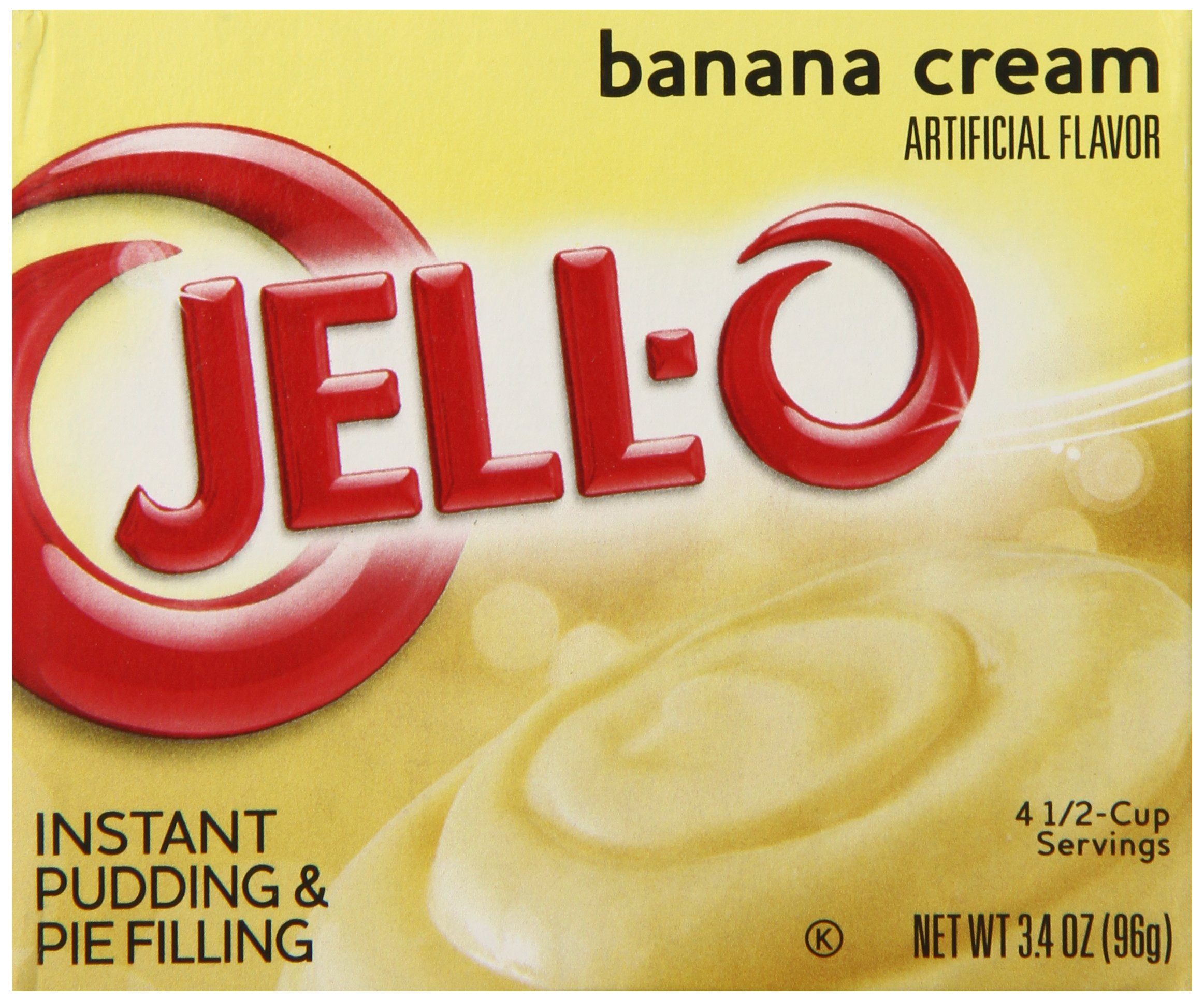 JELLO Instant Banana Cream Pie Filling Mix (3.4oz Boxes, Pack of 6)