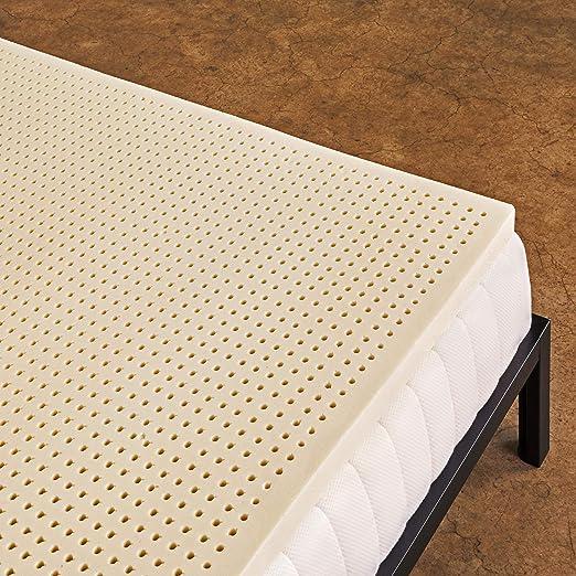 "3/"" Natural Elasticity Latex Mattress Topper Foldable Sleeping Pad Cooling Bed US"