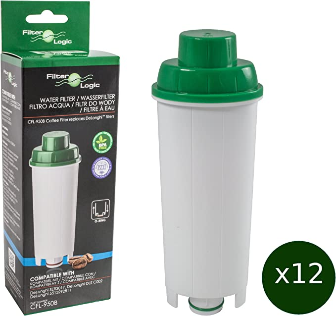 5x Wasserfilter für Delonghi ECAM 45.760 W Eletta kompatibel mit DLS C002