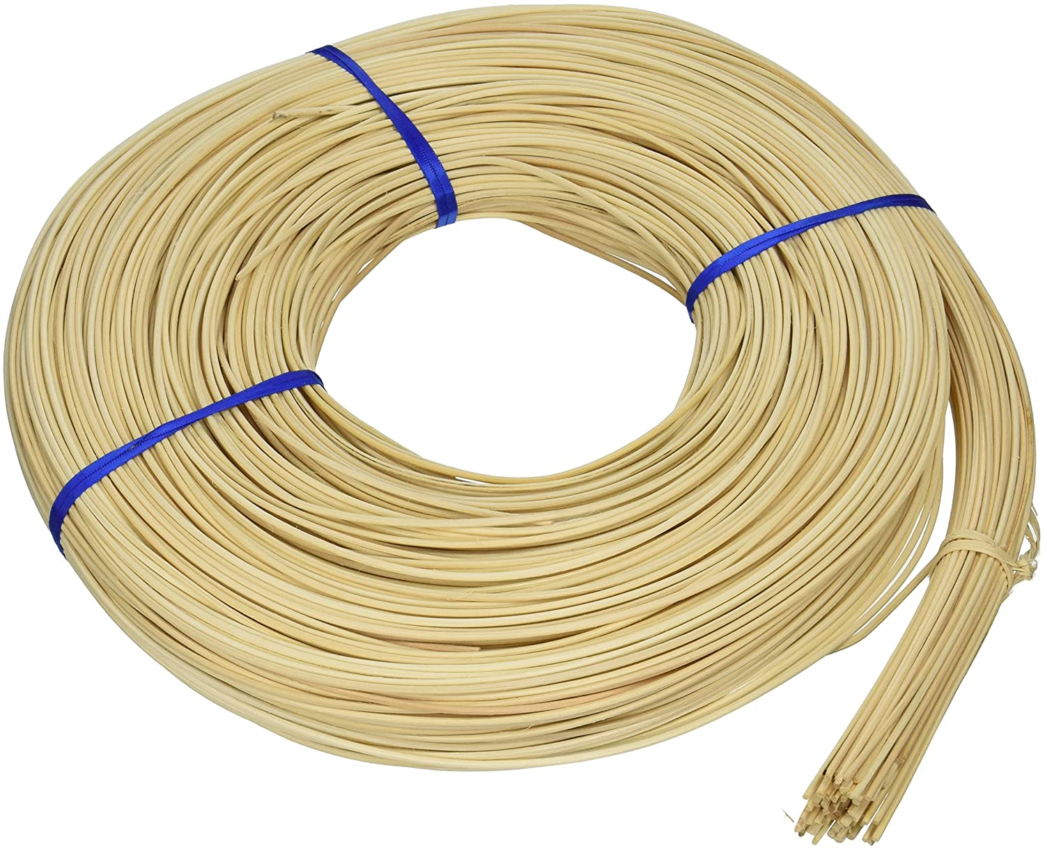 Commonwealth Basket Round Reed #3 2-1/4mm 1-Pound Coil, Approximately 750-Feet 3RR