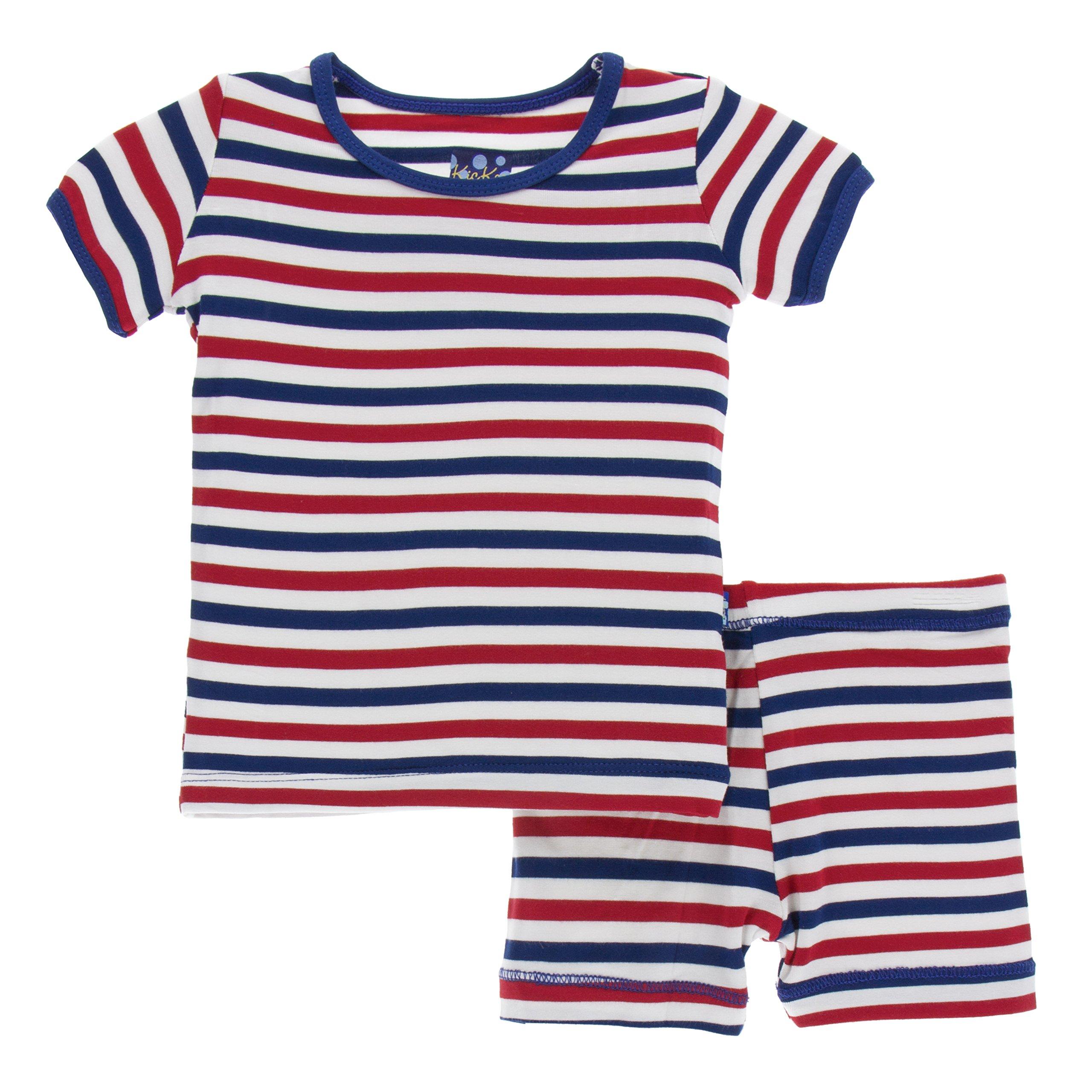 54529dc87 Kickee Pants Little Boys Print Short Sleeve Pajama Set With Shorts ...