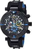 Invicta Men's 'Character Collection' Quartz Stainless Steel and Silicone Casual Watch, Color:Black (Model: 24477)
