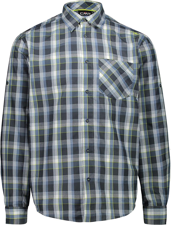 CMP Herren Langarm-Shirt mit Dry Function Technologie Hemd Muschio-Jungle 52