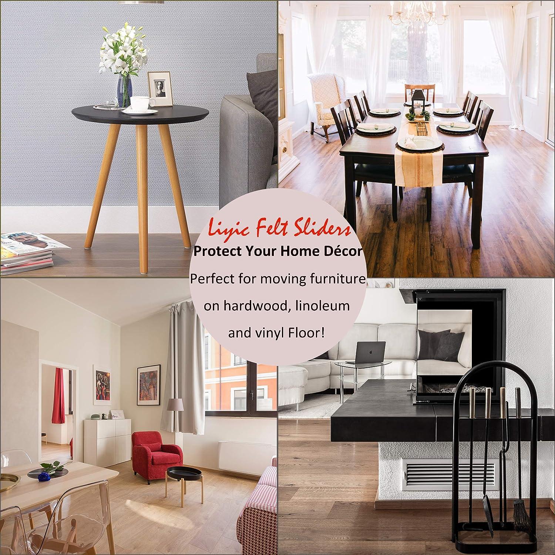 3.5 Felt Furniture Movers,Furniture Mover 8-Pack Felt Furniture Slider for Hard Surfaces Sofa Glider,Furniture Moving Sliders 4-Pack 9 X 2.5 Reusable Rectangle Felt Furniture Sliders and 4 Pack