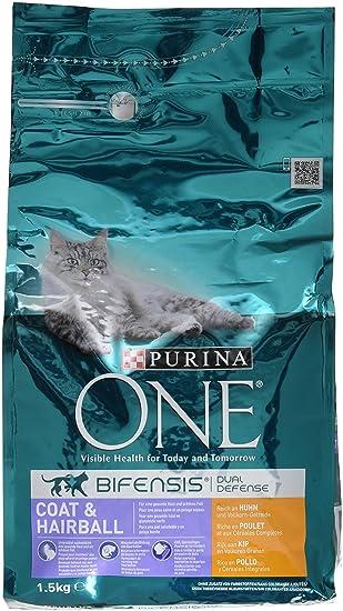Purina One Bifensis Pelaje y Bolas de Pelo Rico en Pavo y Cereales - 3 Paquetes de 1,5 kg: Amazon.es: Productos para mascotas