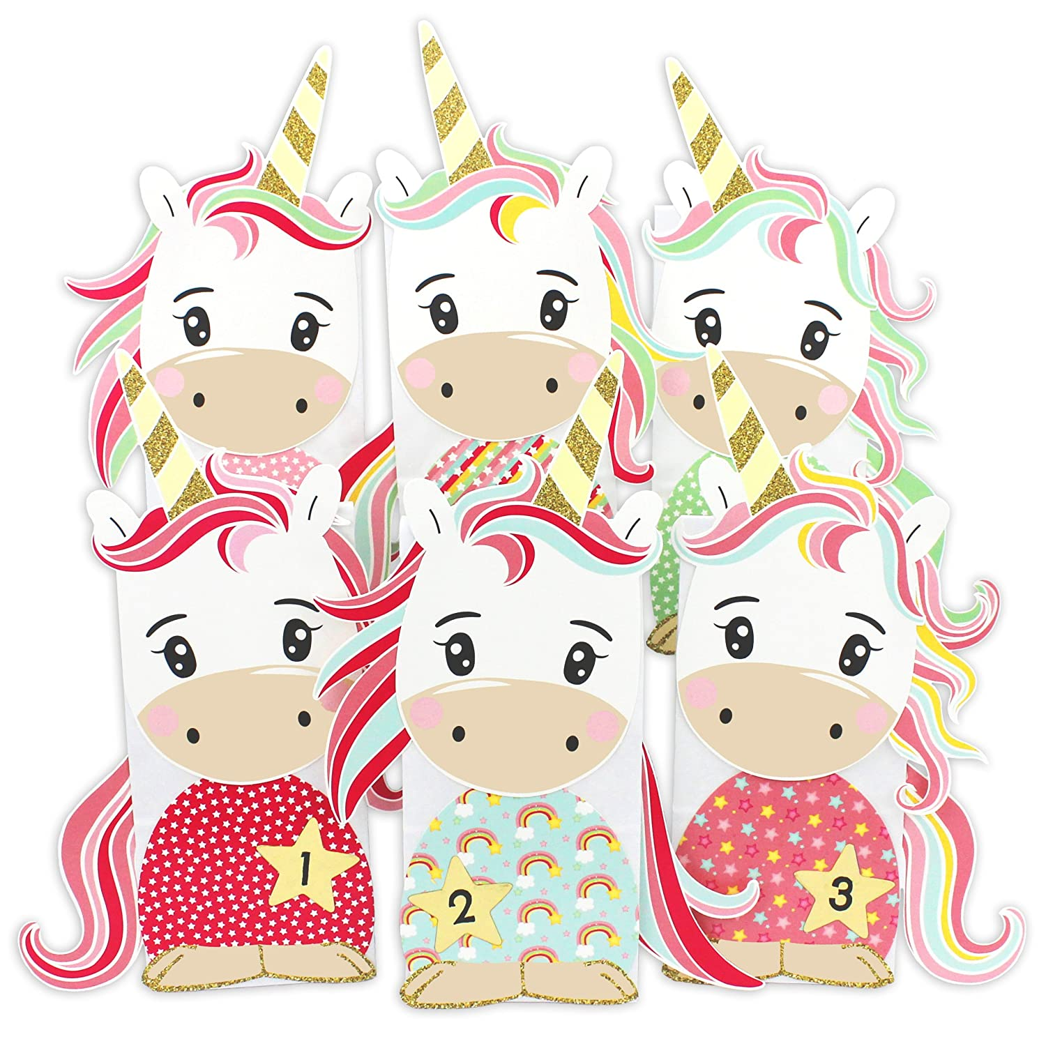 DIY Advent calendar - Unicorn bags – Advent calendar for making and filling PAPIERDRACHEN