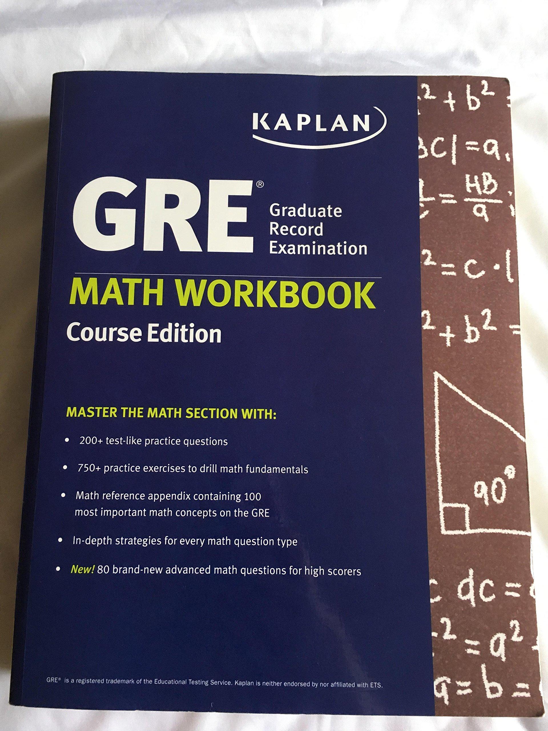 Download GRE Math Workbook Kaplan Course Edition pdf epub