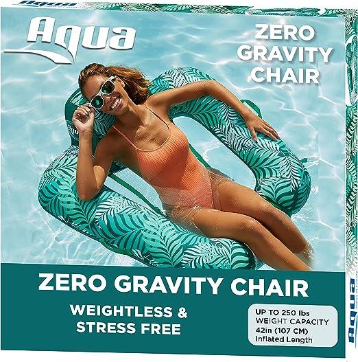 Amazon.com: Flotador para piscina acuática, Teal - Silla de piscina Zero Gravity, Blue Teal - Silla de billar Zero G: Toys & Games