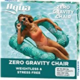 Aqua Zero Gravity Pool Chair Lounge, Inflatable Pool Chair, Adult Pool Float, Heavy Duty, Teal Fern, Blue Teal - Zero G Pool