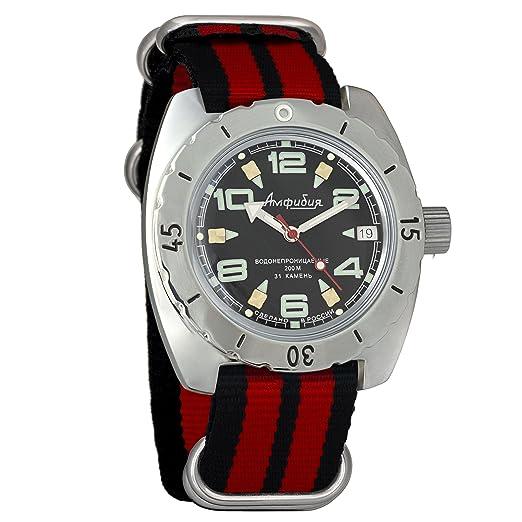 Vostok 150334 - Reloj de pulsera automático para hombre, diseño de anfibio militar: Amazon.es: Relojes