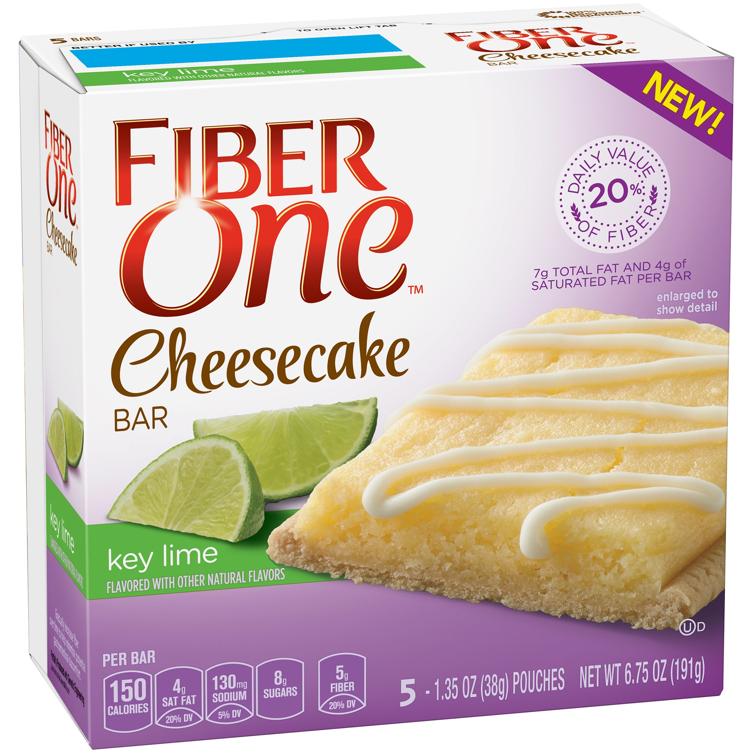 Fiber One Key Lime Cheesecake Bars Wrappers, 5