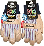 Kinco 1927KW Children's Cold Weather Work and Play Gloves 2-Pack - Lined Ultra Suede Palm Material with Knit Wrist to keep Snow and Debris from Getting inside the Glove - Ages 3 - 6