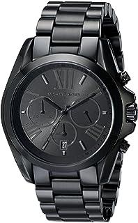 amazon com michael kors watches michael kors men s black bracelet michael kors men s bradshaw black tone chronograph watch