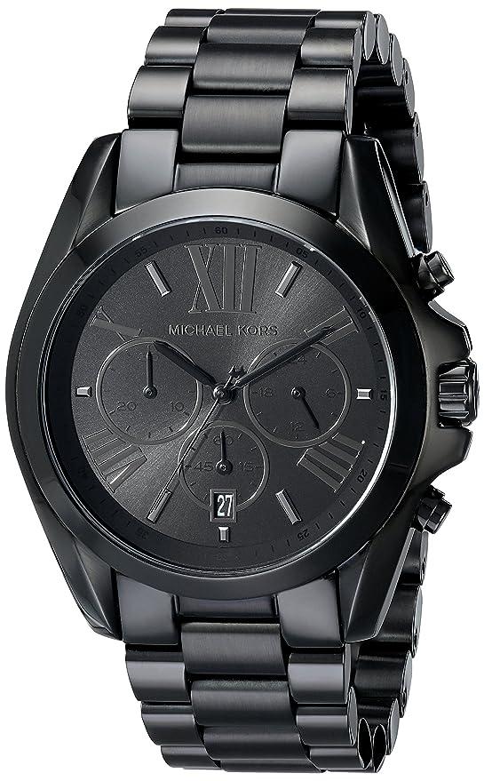 1142c0ae1c35 Reloj de acero inoxidable negro con esfera tonal