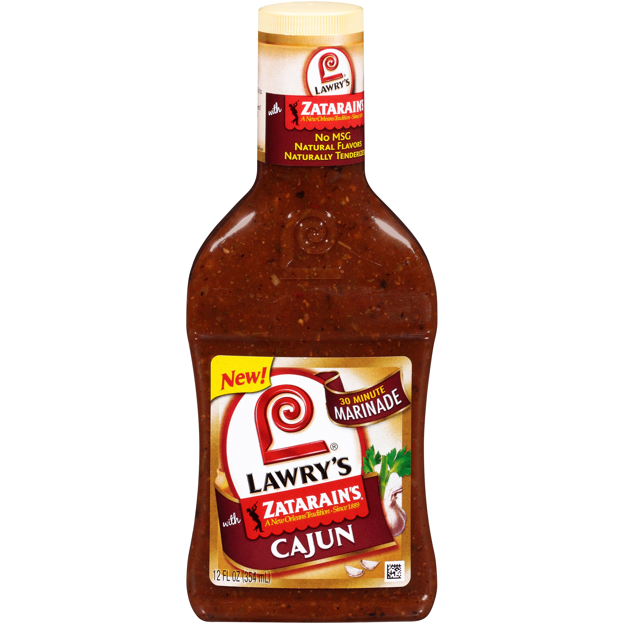 Lawry's Cajun with Zatarain's Seasoning 30 Minute Marinade, 12 oz