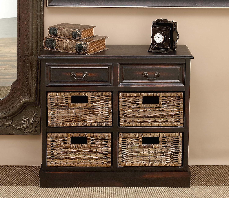 Amazon.com: 4 cesta 28H en de madera. Dresser: Home & Kitchen