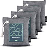 Bamboo Charcoal Air Purifying Bag 4-Pack – Naturally Freshen Air with Powerful Activated Charcoal Bags Odor Absorber…