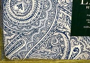 Lauren Ralph Lauren Blue Paisley Floral Medallion Duvet Cover Set - 3-pc Full/Queen Size Set