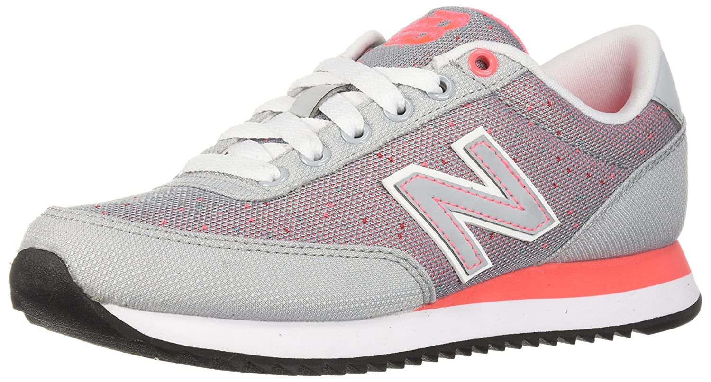 New Balance Women's 501v1 Sneaker B06XX48HHF 75 B US|Silver Mink/Guava