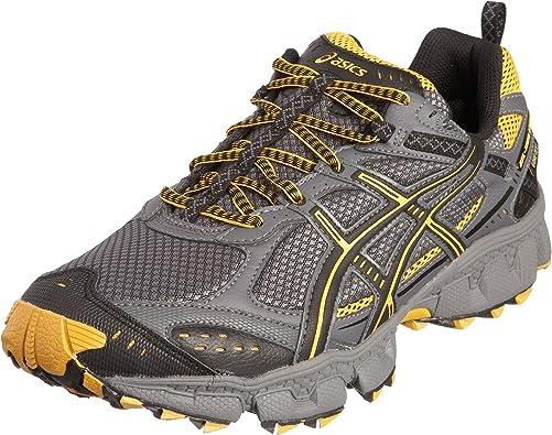 sin cable Hablar Peticionario  Asics Men's Gel Trail Lahar 2 GTX Running Shoe Carbon/Yellow/Grey T0H2N7410  12 UK: Amazon.co.uk: Shoes & Bags