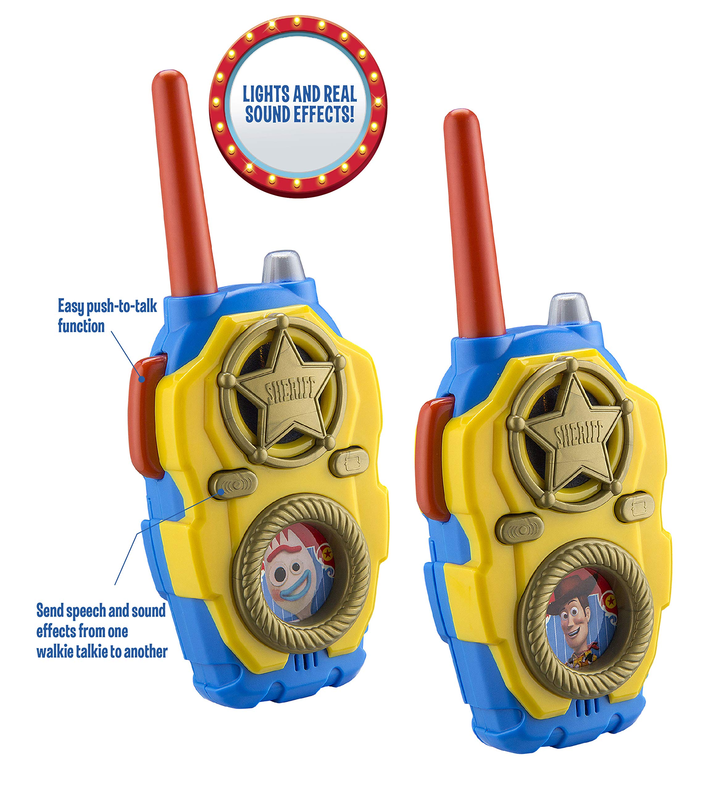 eKids Toy Story 4 FRS Walkie Talkies with Lights and Sounds Kid Friendly Easy to Use by eKids (Image #3)