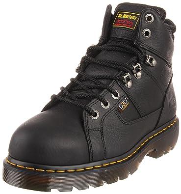 Dr. Martens Men's Ironbridge Steel IM Boot,Black Industrial Grizzly,10 UK/