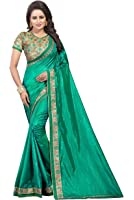 Shiroya Brothers Women's Pepar Silk Partywear New Collection Saree With embroidered Blouse Piece (party wear,wedding wear,regular wear)