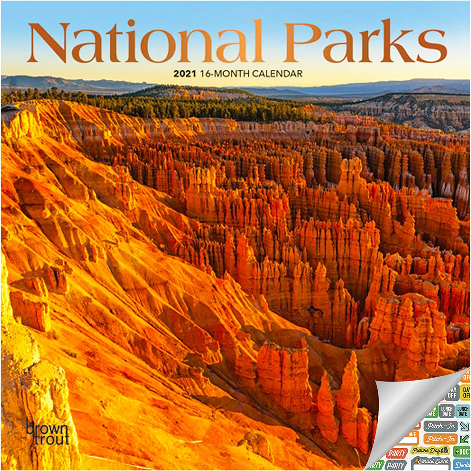 National Parks Calendar 2021 Bundle - Deluxe 2021 Parks Mini Calendar with Over 100 Calendar Stickers (America's National Parks Gifts, Office Supplies)