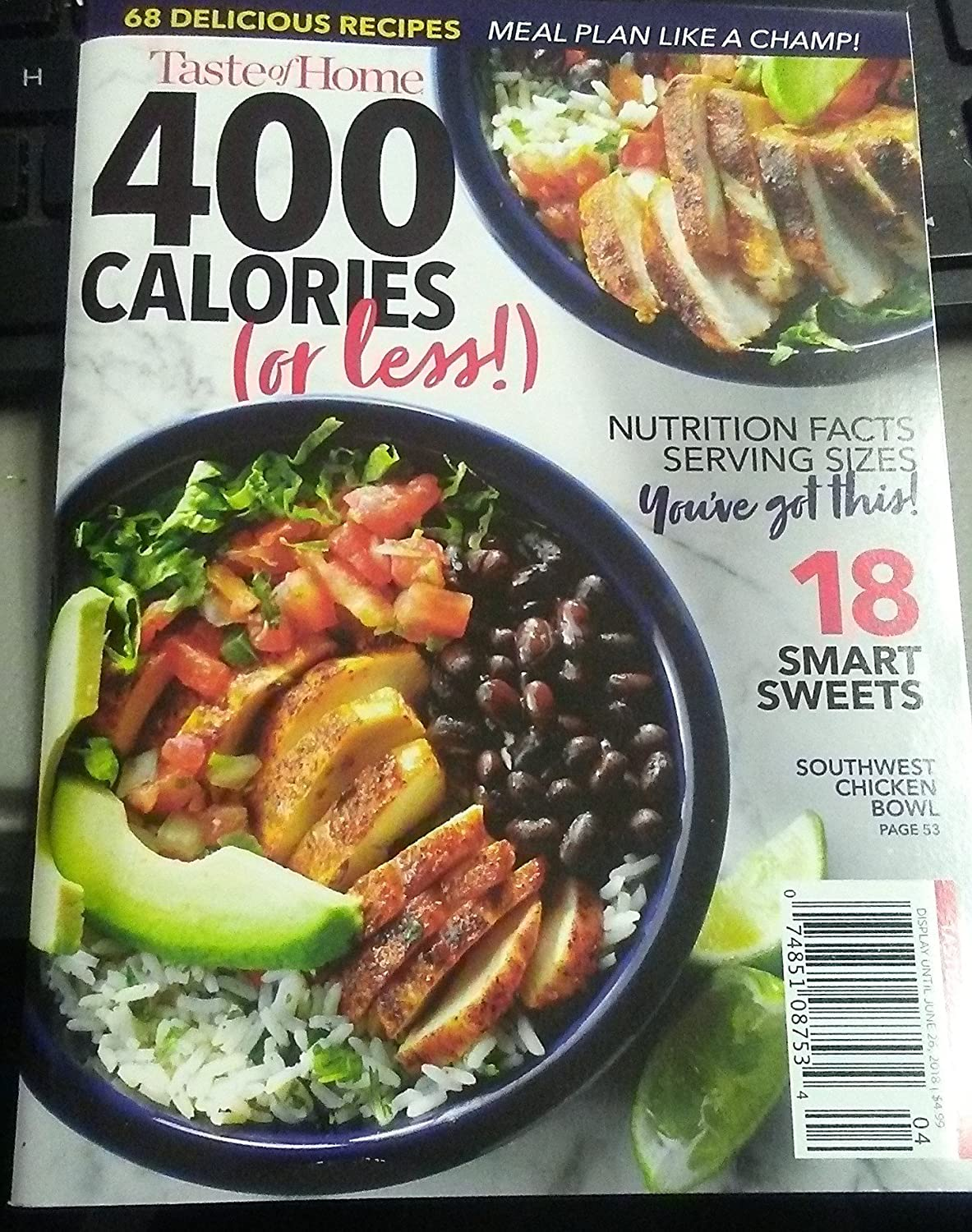 Taste of Home Magazine 2018 400 Calories or less (Small)