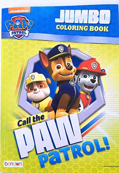 Amazon Com Call The Paw Patrol Jumbo Coloring Book Toys