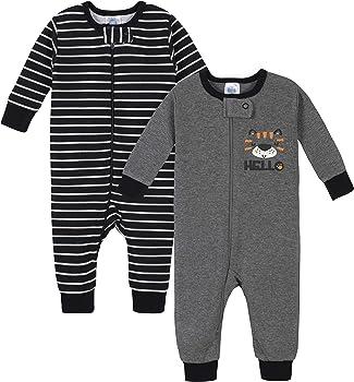 2-Pack Gerber Baby Boys Thermal Footless Unionsuit Pajamas