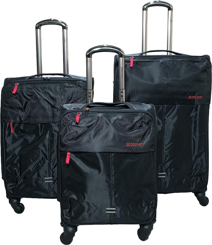 Amazon.com: MORANO 3 piezas bolsa de equipaje de viaje con ...