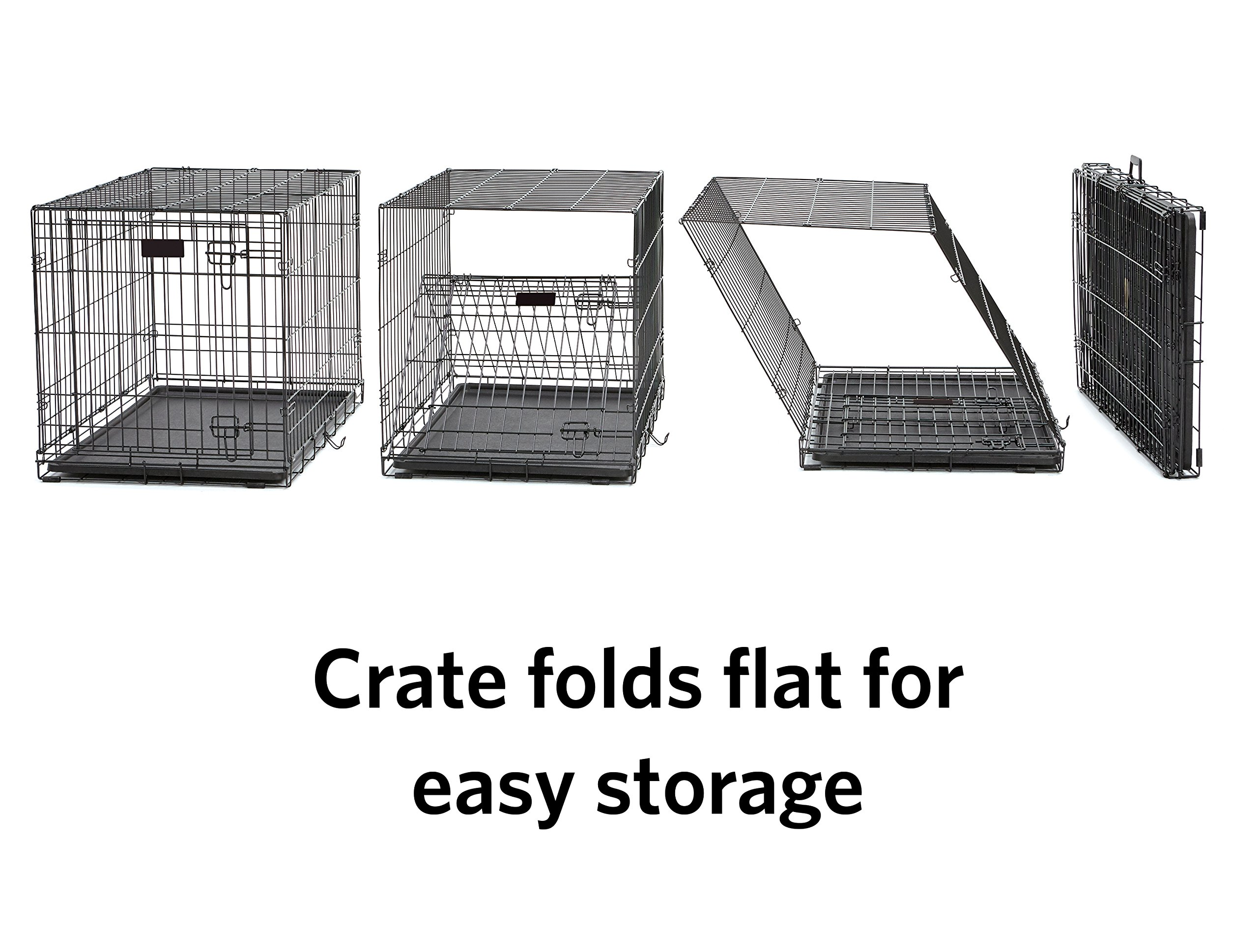 MidWest Homes for Pets Small Dog Crate Starter Kit | One 2-Door iCrate, Pet Bed, Crate Cover & 2 Pet Bowls | 24-Inch Ideal for Small Dog Breeds by MidWest Homes for Pets (Image #6)