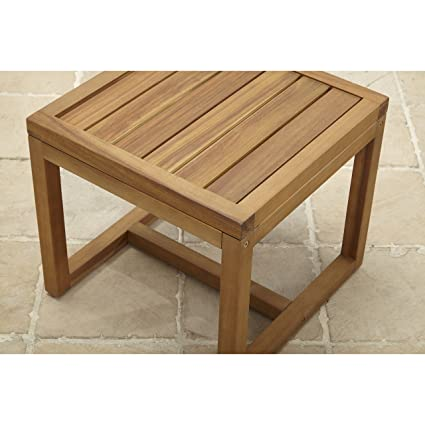 Better Homes And Gardens Davenport Acacia Wood Side Table