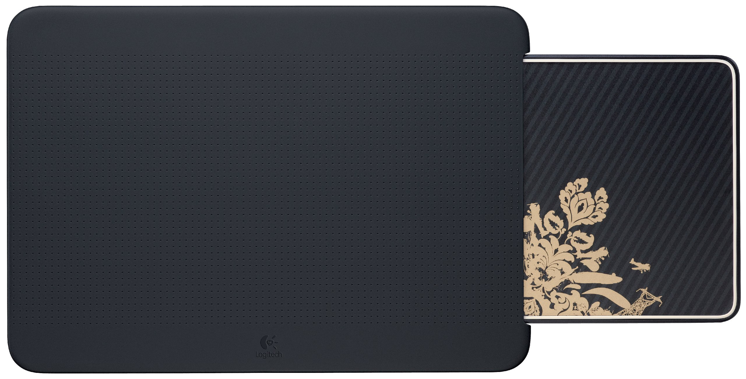 Logitech Portable Lapdesk N315 with Retractable Mouse Pad, Victorian Wallpaper,  (939-000389)