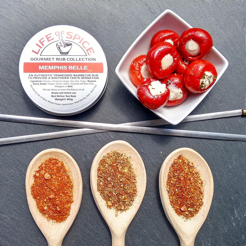 Colección de Mini Aderezos Life of Spice - Juego de Regalo de 3 Aderezos Life of Spice (40g/40g/30g): Amazon.es: Alimentación y bebidas